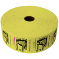 Queen of Hearts Jumbo Ticket Roll - Yellow