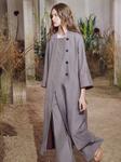 HERMES Resort 2019 Cotton Silk Trench Coat w/ Integrated Collar 38 FR