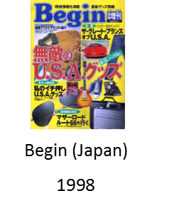 Begin Magazine from Japan 1998 featuring Angel Delgadillo and his barber shop, Route 66 gift shop, and visitor's center in Seligman Arizona