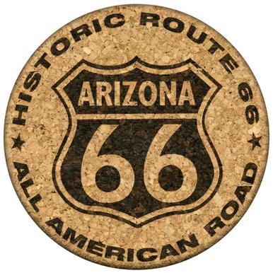 Arizona Route 66 Cork Coaster