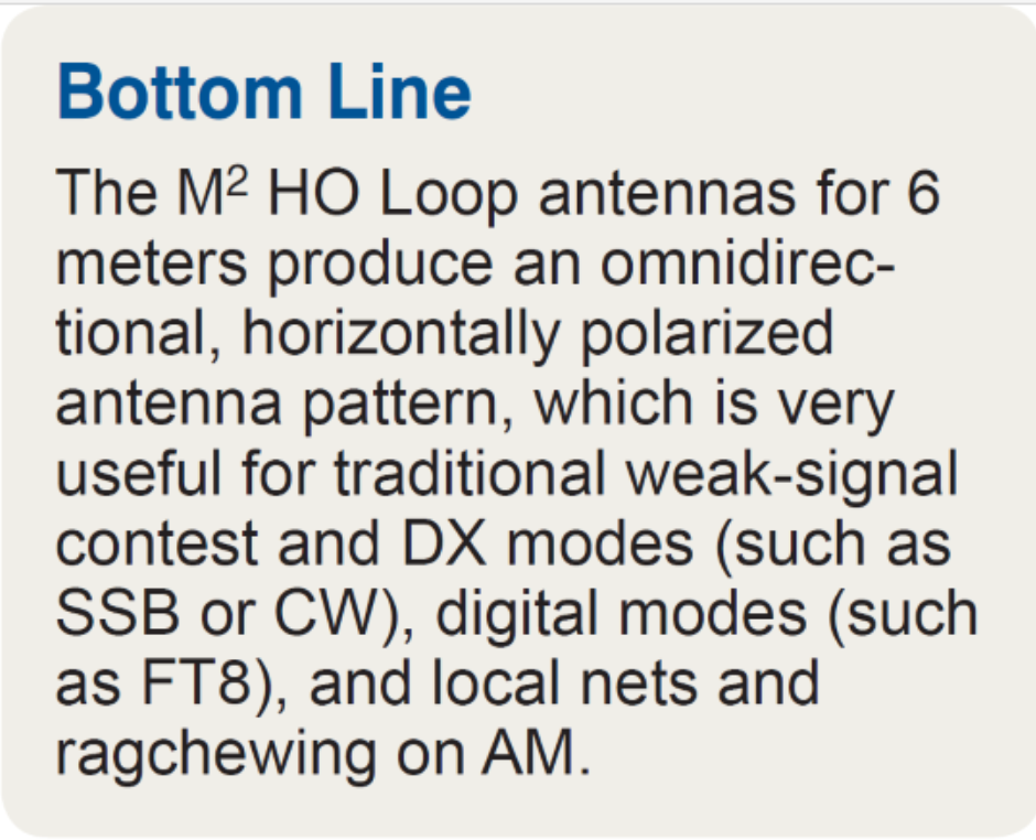 ARRL Product Review of the M2 6-Meter HO Loop Antennas - M2