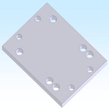 B.T.M. 3 X 4 PLATE (M2APT0019)