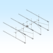 H-Frame & T-Brace Kit for 222XP40 Antennas in a 8 Bay Array