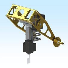 AE1000-S1-O-D-A-N, AE1000, SERVO MOTOR / SINGLE WORM GEAR / OPEN ENCLOSURE / DISH MOUNT / ALUMINUM / NO HEATER