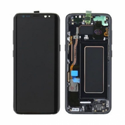 Samsung Galaxy S8 5.8 LCD Touch Screen Digitizer Glass - Black (with Frame)
