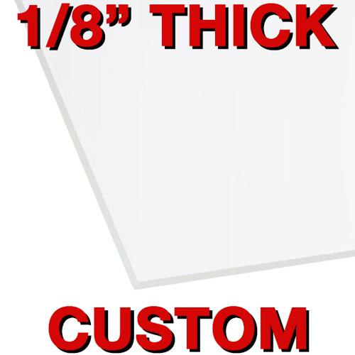 """1/8"""" CUSTOM SIZE Acrylic Safety Barrier (CBCCUSTBAR)"""