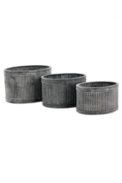 Metal Ribbed Oval Dolly - Set of 3