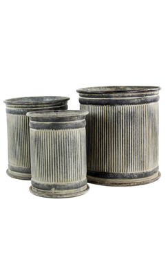 Metal Ribbed Dolly Risers - Set of 3