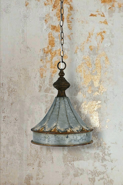 Rustic Zinc Cupola Pendant Lamp
