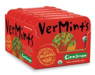 VerMints Organic Breath Mints Cinnamon Large Tin 6pack