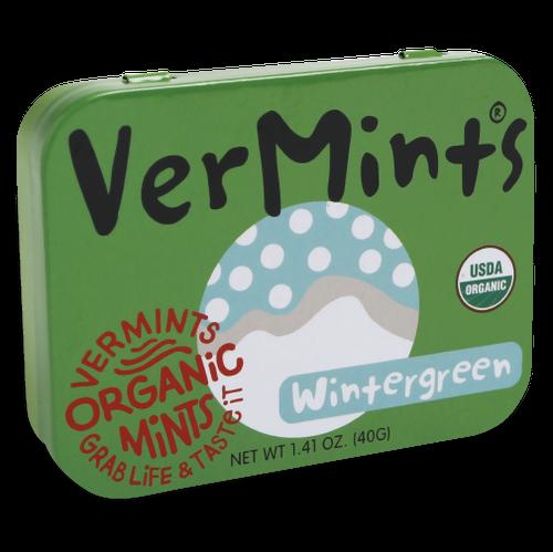 VerMints Organic Breath Mints Wintergreen Large Tin 1.41 oz
