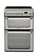 Hotpoint Ultima HUI611X Electric Cooker with Induction Hob - Stainless Steel - A/A Rated - GRADED