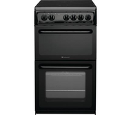 Hotpoint HAE51KS 50cm Electric Cooker with Ceramic Hob - Black - B Rated - BRAND NEW