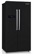Montpellier M520WDK-ND Side-By-Side Fridge Freezer - Black - BRAND NEW