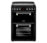 Stoves Richmond 600G 60cm Gas Cooker with Full Width Electric Grill - Black - A+/A Rated - GRADED