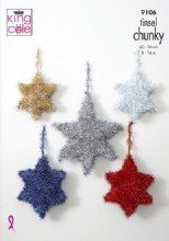 King Cole Tinsel Chunky pattern 9106