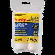 "PURDY 140624012 4.5"" JUMBO WHITE DOVE ROLLER COVER 3/8 NAP 2PK"