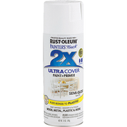 RUSTOLEUM 249060 12OZ SEMI GLOSS WHITE PAINTERS TOUCH 2X ULTRA COVER SPRAY