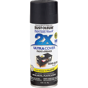 RUSTOLEUM 249061 12OZ SEMI GLOSS BLACK PAINTERS TOUCH 2X ULTRA COVER SPRAY