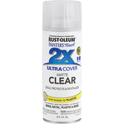 RUSTOLEUM 249087 12OZ FLAT MATTE CLEAR PAINTERS TOUCH 2X ULTRA COVER SPRAY