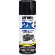 RUSTOLEUM 249122 12OZ GLOSS BLACK PAINTERS TOUCH 2X ULTRA COVER SPRAY