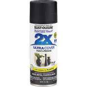 RUSTOLEUM 249127 12OZ FLAT BLACK PAINTERS TOUCH 2X ULTRA COVER SPRAY