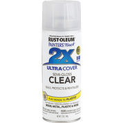 RUSTOLEUM 249859 12OZ SEMI GLOSS CLEAR PAINTERS TOUCH 2X ULTRA COVER SPRAY