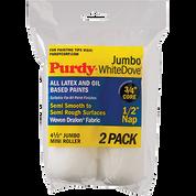 "PURDY 140624013 4.5"" JUMBO WHITE DOVE ROLLER COVER 1/2 NAP 2PK"