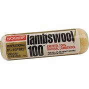 "WOOSTER R291 9"" LAMBSWOOL 100 1/2"" NAP ROLLER COVER"