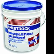 USG 380340 004 1G PLUS-3 LIGHTWEIGHT JOINT COMPOUND BLUE LID