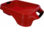BERCOM 7500-CT RED DEEP WELL PAINT TRAY WITH HANDLES BUILT IN MAGNET POURS SPOUT AND LINER LOCKING FEATURES