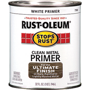 RUSTOLEUM 7780502 QT WHITE CLEAN METAL PRIMER STOPS RUST