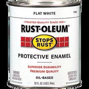 RUSTOLEUM 7790502 QT FLAT WHITE STOPS RUST