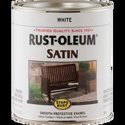 RUSTOLEUM 7791502 QT SATIN WHITE STOPS RUST
