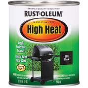 RUSTOLEUM 7778502 QT BBQ BLACK HIGH HEAT SPECIALTY ENAMEL