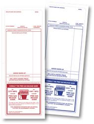 Addendum Stickers - Red Addendum Stickers and Blue Addendum Stickers (100 per pack)