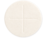 "2 3/4"" Diameter White  Celebrant Altar Bread  box of 50"