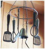 Decorative Old Fashion Kitchen Utensil Chime Rustic Finish (P)