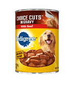 Pedigree Canned Adult Dog Food, Choice Cuts with Beef CASE (12 x 13.2 oz Cans)