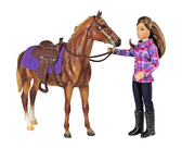 Children's Toys, Breyer Western Horse and Rider Collectible (comes packaged as shown below)