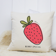 Personalised 'Strawberry' Cushion
