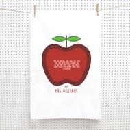 Personalised 'Teachers Calss Apple' Tea Towels