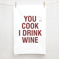 Personalised 'You Cook I Drink' Tea Towels