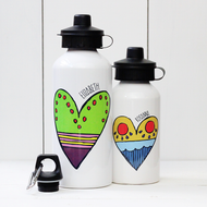 Personalised 'Heart' Water bottle