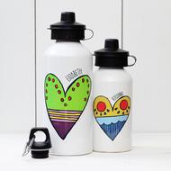 Personalised 'Heart' Water bottle