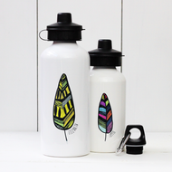 Personalised 'Feather' Water bottle