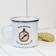 Personalised 'Compass' Enamel mug