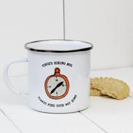 Personalised 'Compass' Enamel mug