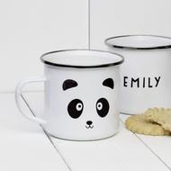 Personalised 'Panda' Enamel mug