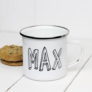 Personalised 'Bubble'  Enamel mug